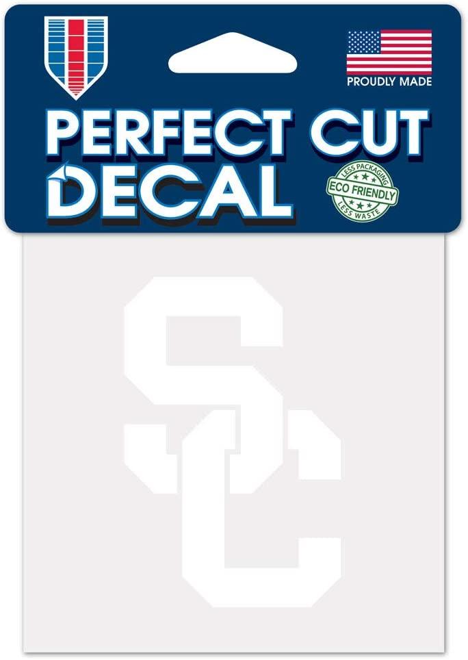 WinCraft NCAA USC Trojans 4x4 Perfect Cut White Decal, One Size, Team Color