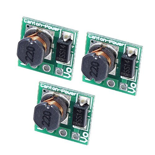 TOOGOO(R) 2pcs Mini DC 3V to 5V 1A USB Output Step-up Charging Module Battery Converter for Mobile Mp3 Phone Charging DIY Power Supply Charger
