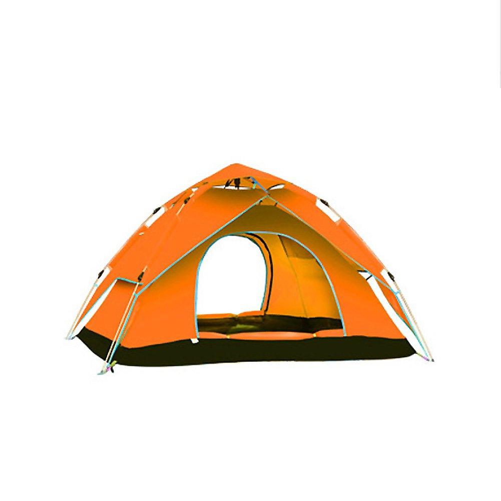 SANDM Automatisch Campingzelt, Outdoor Zelten 34 Person Automatische Instant pop-up- Double-layer Mit Tragebag Fiberglas Kuppelzelte