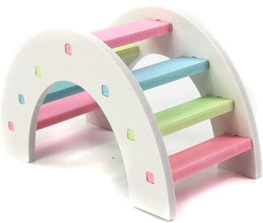 Prosperveil hámster Escalera de Escalada Juguetes de Actividades de Madera Puente Arco Iris Divertido Juego Ejercicio Juguete para pequeños Animales cobayas Chinchilla: Amazon.es: Productos para mascotas