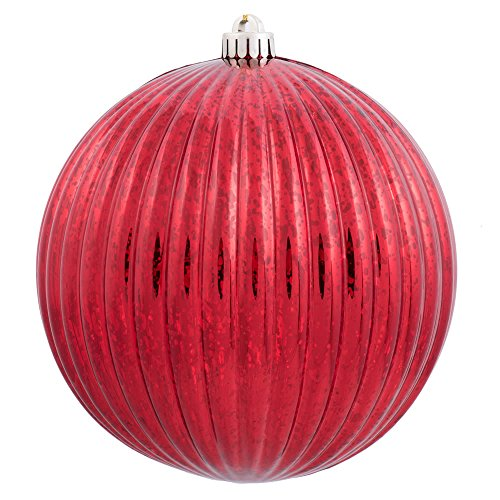 (Vickerman M162203 Mercury Finish Plastic Shatterproof Pumpkin Ball 6 to a bag, 4