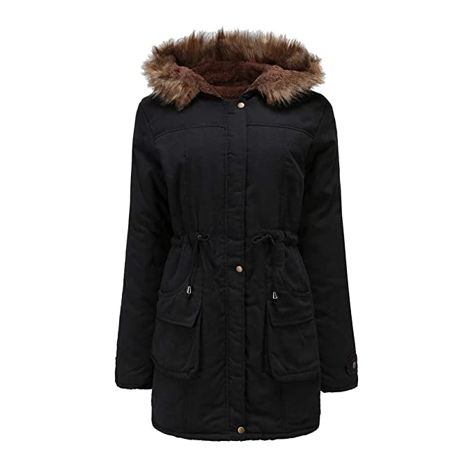 huge selection of e55d7 9d815 WanYangg Cappotto Giaccone Parka Invernale Donna con ...