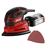 SKIL Corded Detail Sander, Includes 3pcs Sanding Paper and Dust Box - SR250801