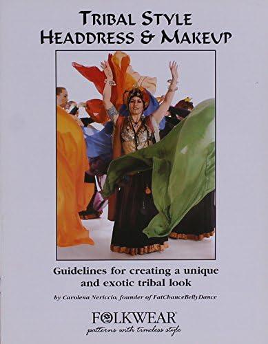Folkwear American Tribal Style Dance Headdress Turban /& Stage Makeup Booklet