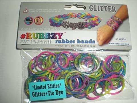 Rubbzy 100 Pc Special Edition Tie Dye/glitter Rubber Bands w/ 4 Click to Enlarge Rubbzy 100 Pc Special Edition Tie Dye/glitter Rubber Bands w/ 4 - Glitter Stretch Bracelet