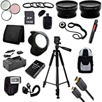Outdoor Accessory Package for Nikon D3100, D3200, D5100, D5200 DSLR Cameras (Nikon 55-300mm or 50mm f/1.8G Lenses)