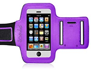 """Ionic ACTIVE Sport Armband Case for """"The New iPhone"""" New Apple iPhone 5 5th Generation 5G (AT&T, T-Mobile, Sprint, Verizon)(Purple)"""