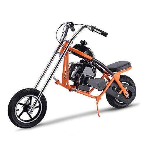 SAY YEAH Gas Scooter 49cc 2 Stroke Mini Dirt Pit Bike for Kids,Non California Compliant,Orange ()