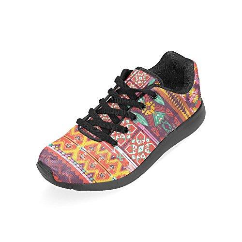 Scarpe Da Corsa Da Donna Winterprint Jogging Leggero Sportivo Da Passeggio Sneakers Da Ginnastica Etnico Tribù Rosso