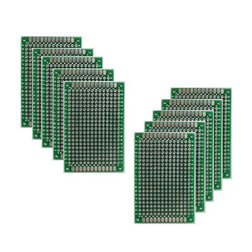 B Baosity 10ピース/個両面ガラス繊維プロトタイピングPCBユニバーサルボード(4 X 6 Cm)