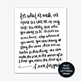 Best Office Art - For What It's Worth F. Scott Fitzgerald Print Review