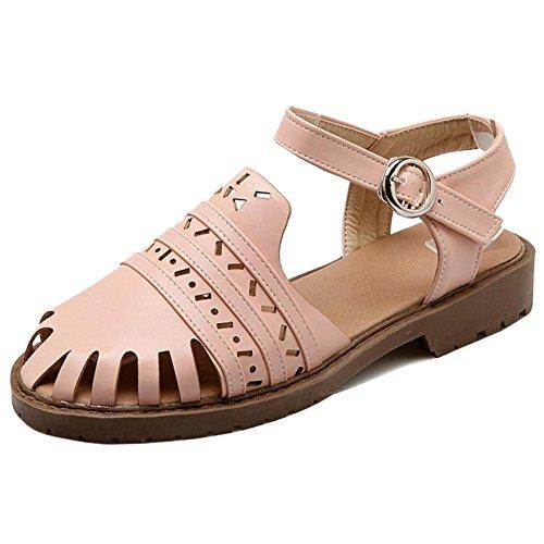 Coolcept Mujer Tacon Bajo Sandalias Zapatos Pink
