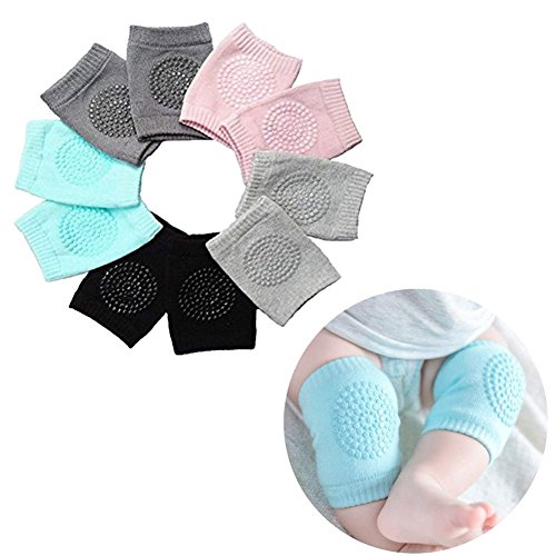 Pads Learn (Baby Crawling Anti-Slip Knee pads, Unisex Baby Toddlers Kneepads 5 Pairs(Kneepad))