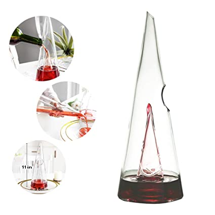 Beautiful Wine Caraffa in Mano Soffiato 100/% Senza Piombo di Cristallo HUBi Vino Decanter