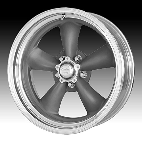 14 Inch Polished American Racing (American Racing VN215 Classic Torq Thrust II 1 Pc Mag Gray Wheel with Center Polished Barrel (15x6