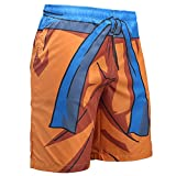 Qingduomao Men's Printing Quick Dry Swim Trunks Drawstring Waist Beach Shorts Beachwear(A01, M)