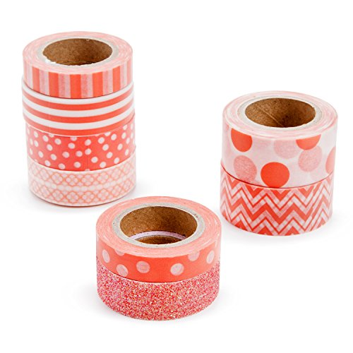 Darice Tape (Darice Coral Washi Tape Assortment)