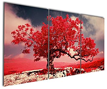 Gardenia Art   Graceful Red Maple Canvas Prints Modern Wall Art Abstract  Paintings Beautiful Tree Artwork