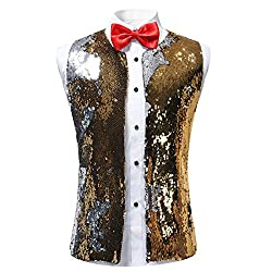 Men's Metallic Shimmer Slim Fit Vest