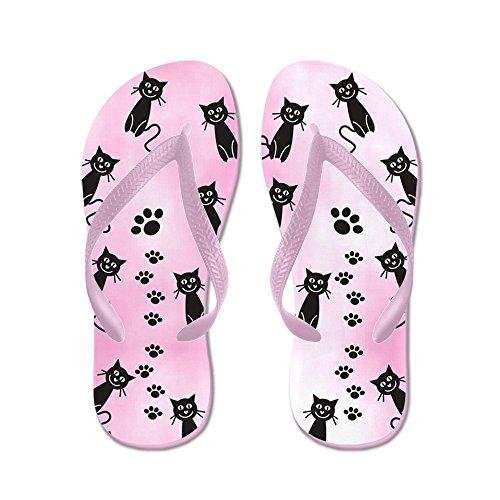 Cafepress Cats Pink ?? - Infradito, Divertenti Sandali Infradito, Sandali Da Spiaggia Rosa