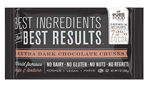 Barry Callebaut Chocolate | Certified Kosher | Gluten-Free, Dairy-Free, Nut-Free, Vegan | 9 oz bag (Dark Chocolate Chunks, 4 Packs)