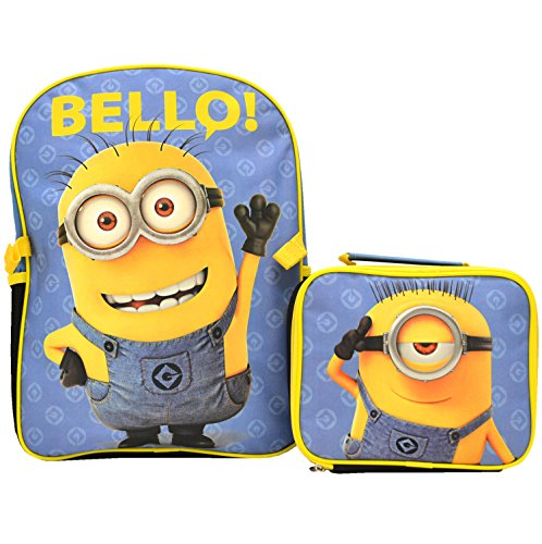 Despicable Me Minion 15 Deluxe Backpack & Lunch Bag Kit