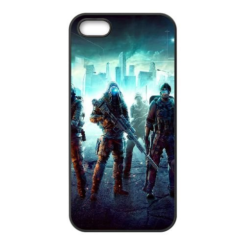 Ghost Recon City Soldiers coque iPhone 4 4S cellulaire cas coque de téléphone cas téléphone cellulaire noir couvercle EEEXLKNBC25241