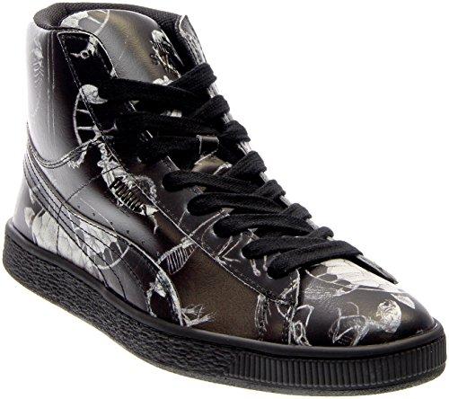 Puma Heren States Mid X Swash Relikwie Lederen Enkellange Mode Sneaker Perzik Bud-lyons Blauw