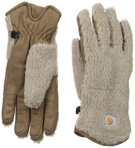 Carhartt Women's Sherpa Glove, Desert Sand, - Women Insulated Gloves Carhartt