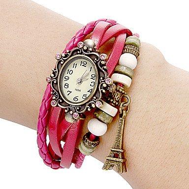reloj de pulsera de línea flor bohemio de las mujeres