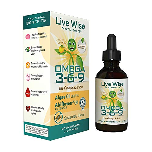 Vegan Algae Omega 3 6 9   Supports Healthy Heart, Joints, Bones, Skin, Hair   Fish Free