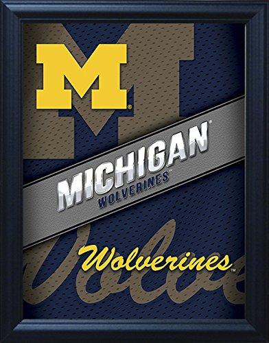"- Michigan Wolverines 3D Poster Wall Art Decor Framed | 14.5x18.5"" | Officially Licensed NCAA Merchandise | Lenticular Prints | U of M Logo | for Fans of Football, Basketball, Hockey, Alumni! GO Blue!"