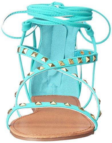 Qupid Women's Archer-158 Gladiator Sandal Turquoise 7Z4JB