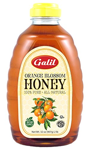 Galil Pure Natural Orange Blossom  Honey, 32-Ounce Jars (Pack of 2)