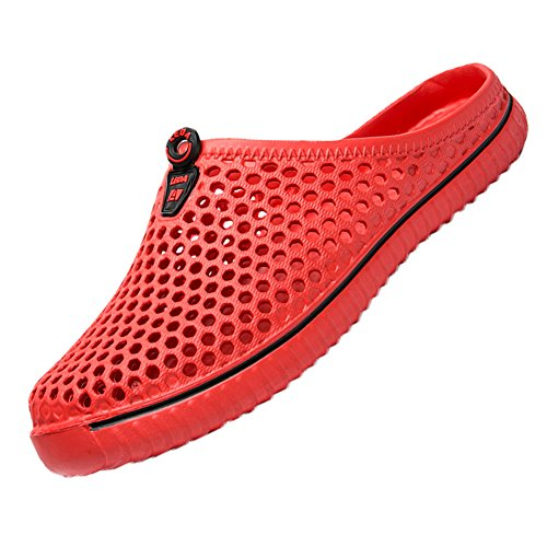 Drying Slippers Ryanmay Walking Red Sandals Womens Shoes Mens Garden Comfortable Quick 66aS8