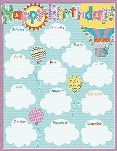 Up and away birthday chart carson dellosa publishing 0044222255121