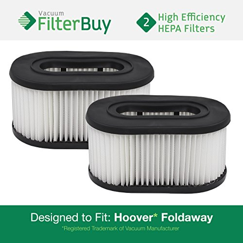2 Hoover Foldaway and WidePath Filters. Designed by FilterBuy to Replace Hoover Part # 40130050.