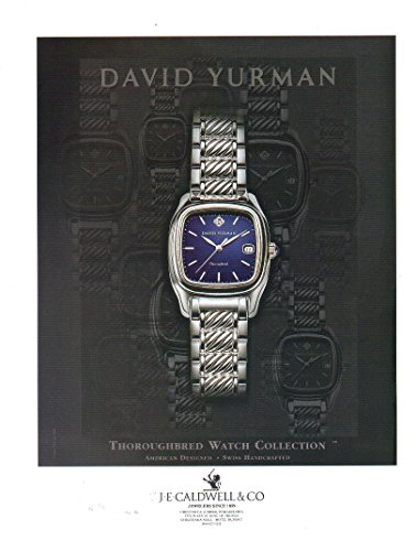 COLLECTIBLE ADVERTISING Print ad: 1999 David Yurman Thoroughbred Watch Collection, J E Caldwell & Co.