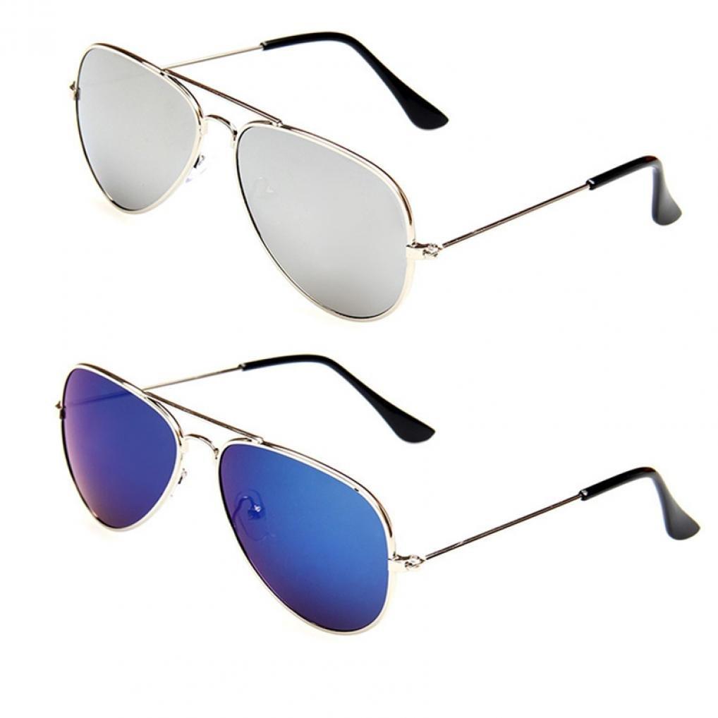 280f632e4037 Amazon.com: WODISON Kids Classic Aviator Sunglasses Metal Frame Children  Eyeglass UV Protection Eyewear Glasses 2 Packs: Clothing