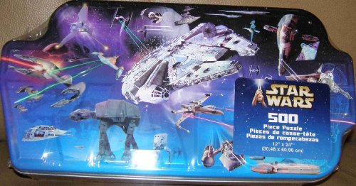 (STAR WARS MOVIE VEHICLES 500 PC JIGSAW PUZZLE IN COLLECTOR TIN )