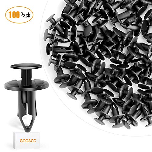 GOOACC Nylon Bumper Fastener Rivet Clips GM 21030249 Ford N807389S Automotive Furniture Assembly Expansion Screws Kit Auto Body Clips 8mm - 100PCS ()