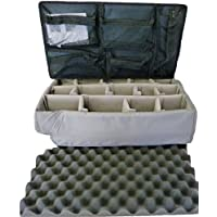 Grey padded divider set to fit Pelican 1510 and 1519 lid organizer combo. NO CASE
