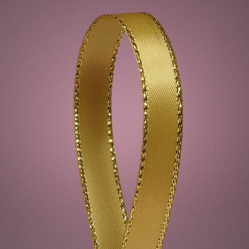 - Antique Gold Satin Ribbon with Gold Edges, 3/8