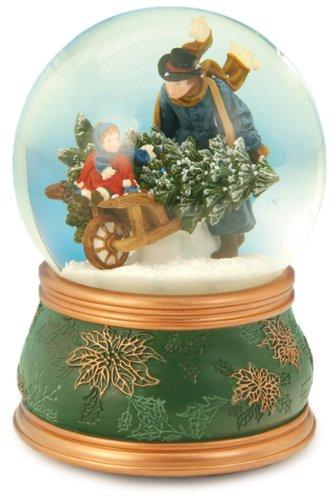 Spieluhrenwelt 51035 - Palla di vetro con neve Carriola Music Box World