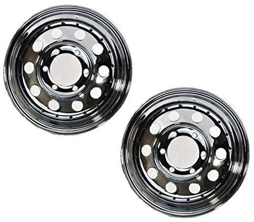2-Pack Trailer Wheel Rim 15X6 6 Lug Chrome Modular 2830 Lb. ()