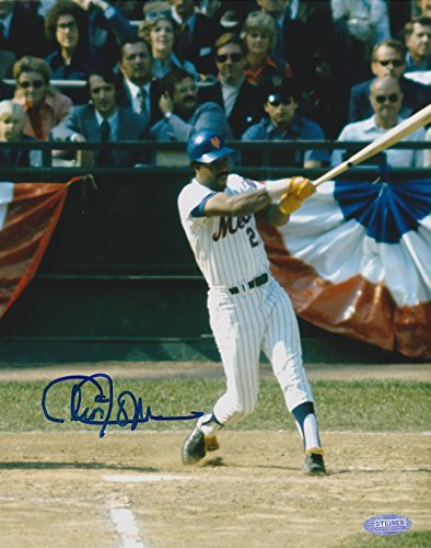 (CLEON JONES AUTOGRAPHED 8x10 PRO PHOTO NY METS SWING @ SHEA STEINER SPORTS COA)