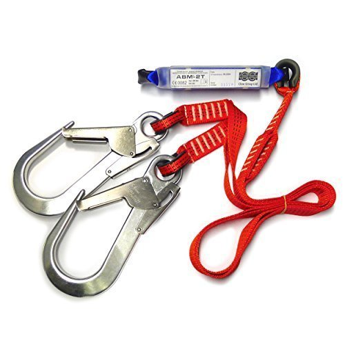 Clow PPE Harness Accessories Energy Absorber with Double Webbing Lanyard & Snap Hooks by Clow by Clow