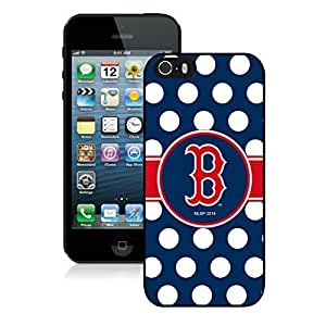 Apple iPhone 5S Protective Skin Case MLB Boston Red Sox iPhone 5s 5th Generation Black Plastic Phone Case Cover 05_15991