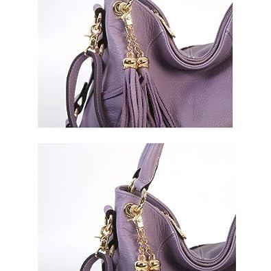BRUNO Leather Shoulder Handbag