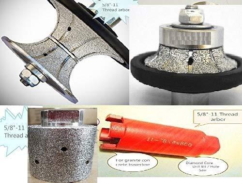 """1//2/"""" 13mm V-Shape Diamond Router Bit Granite Full Bullnose concrete travertine"""